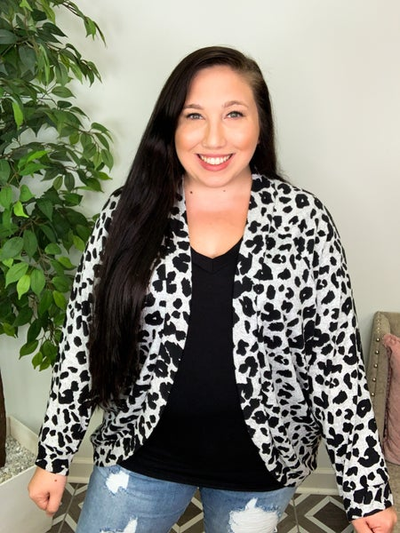 Fierce Like You Snow Leopard Cardi