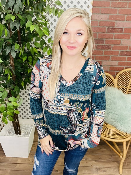 Reminiscence My Love Paisley Top