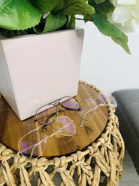 Amy Aviator Blue Light Glasses