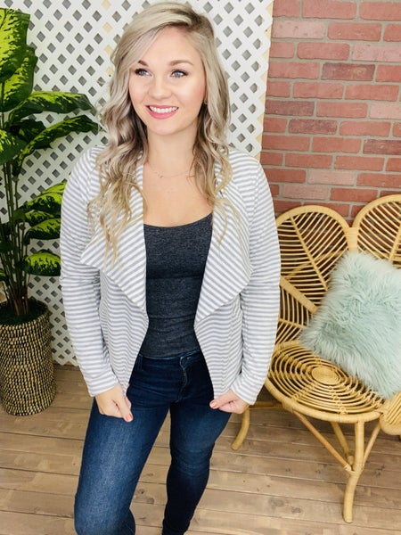 Through All The Days Striped Knit Jacket