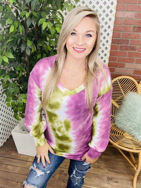 Unexplainable Thoughts TieDye Top