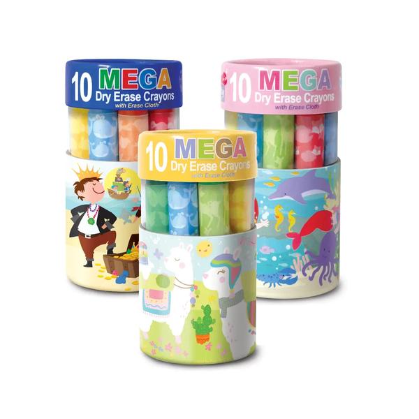 Kids Mega Dry Erase Crayons