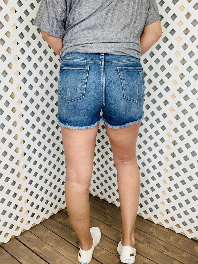 Duchess Of Daisy Judy Blue Shorts