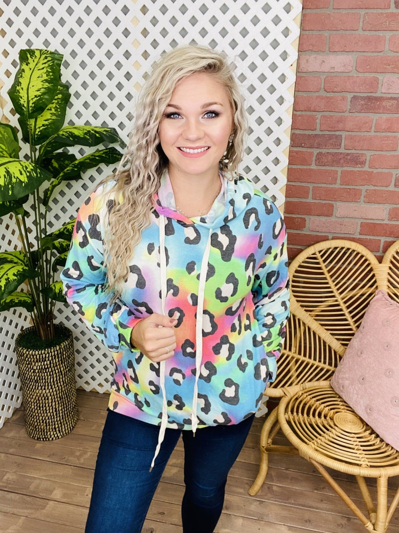 Vibrant In The Jungle Leopard Hoodie