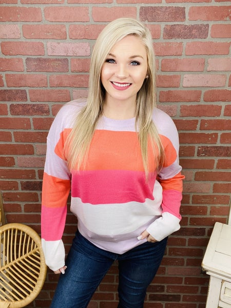 Never Miss A Chance Colorblock Sweater