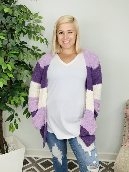 Warming The Way Colorblock Cardigan