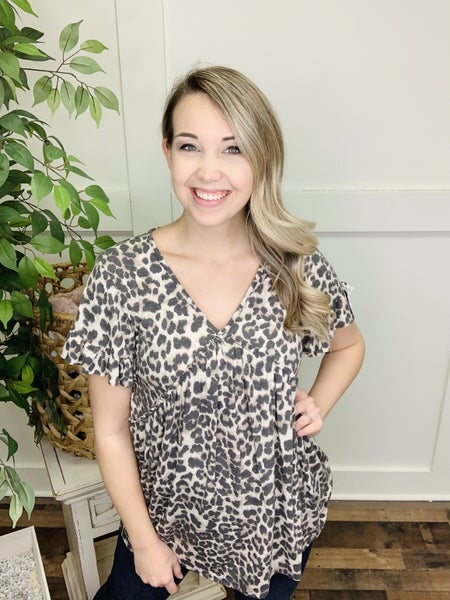 Relaxed and Wild Leopard Top