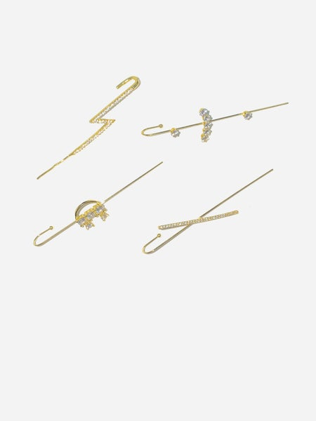 Simple But Stylish Hook Earrings (4pcs)