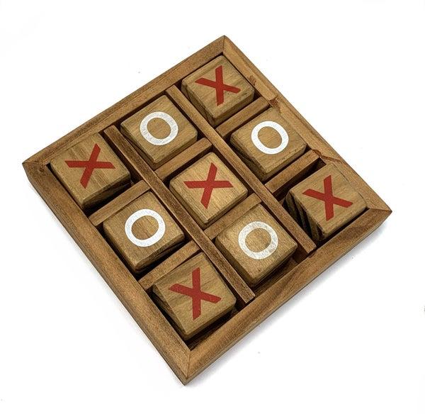 Wooden Tic-Tac-Toe Box