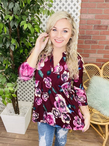 A Flourishing Change Floral Top