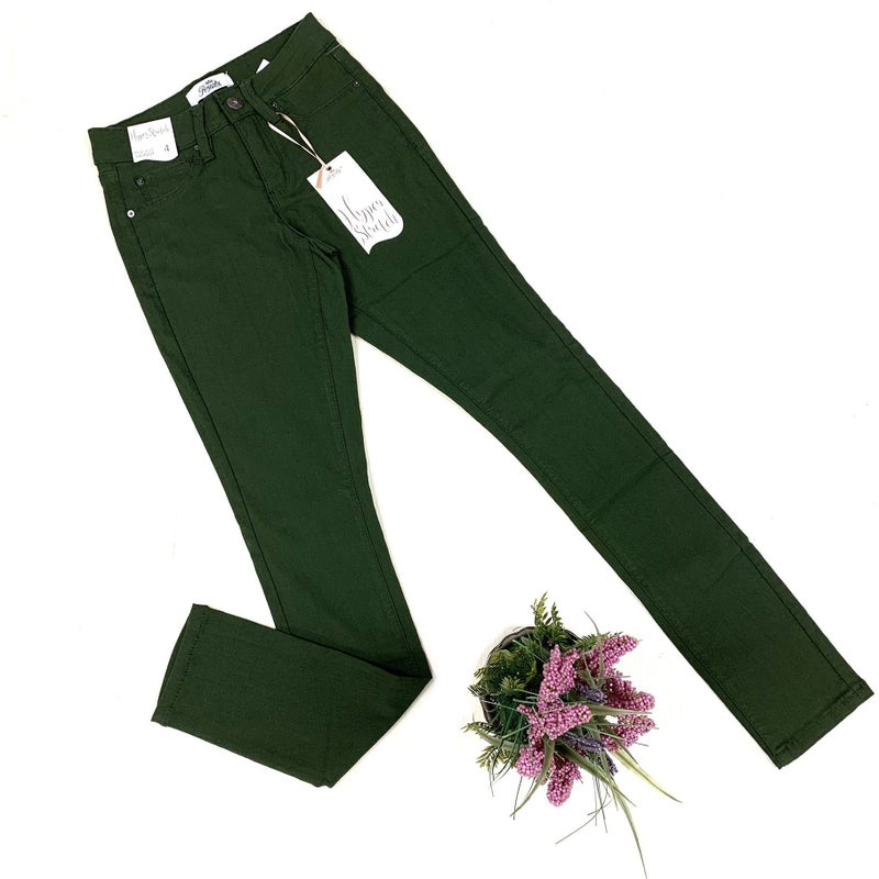 Hyper Stretch Jegging - Olive
