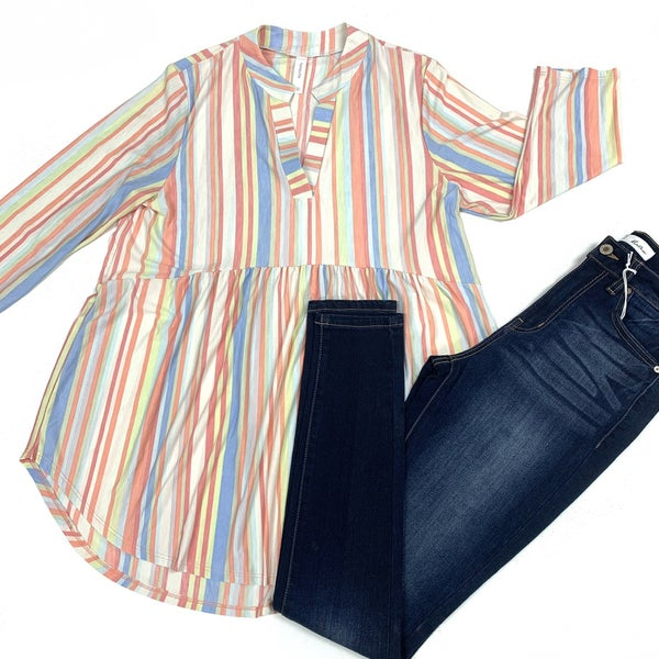 Spontaneous Adventure  Striped Top