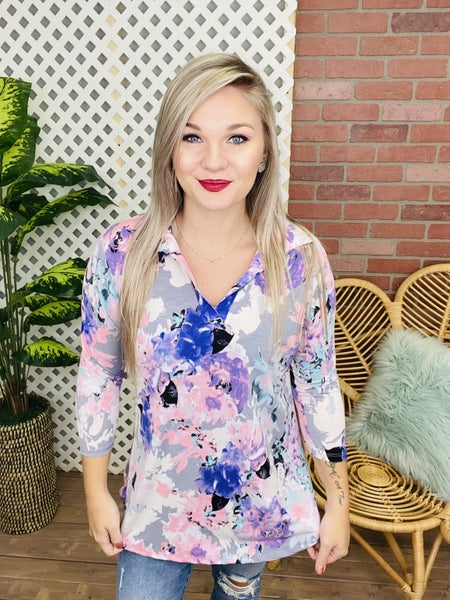 Remember It Well Floral Top