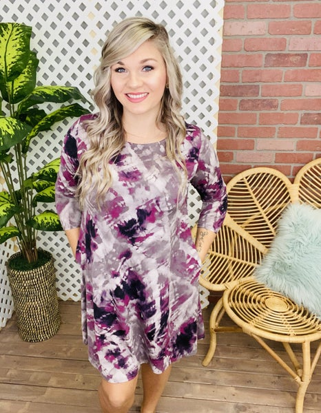 See The Beauty Brushed TieDye Dress