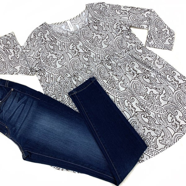 I Could Be Yours Damask Top