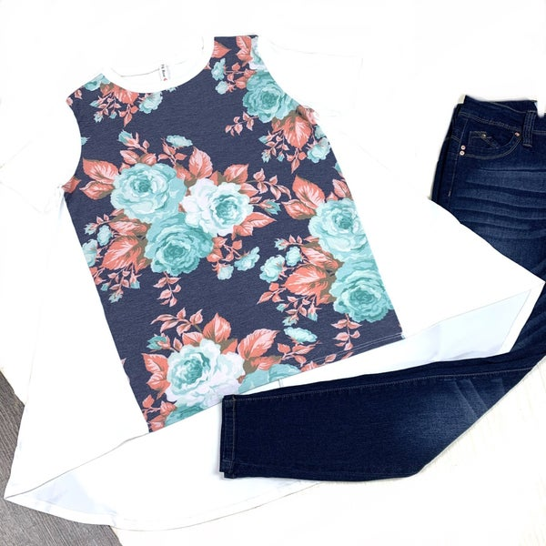 Just My Luck Floral Top