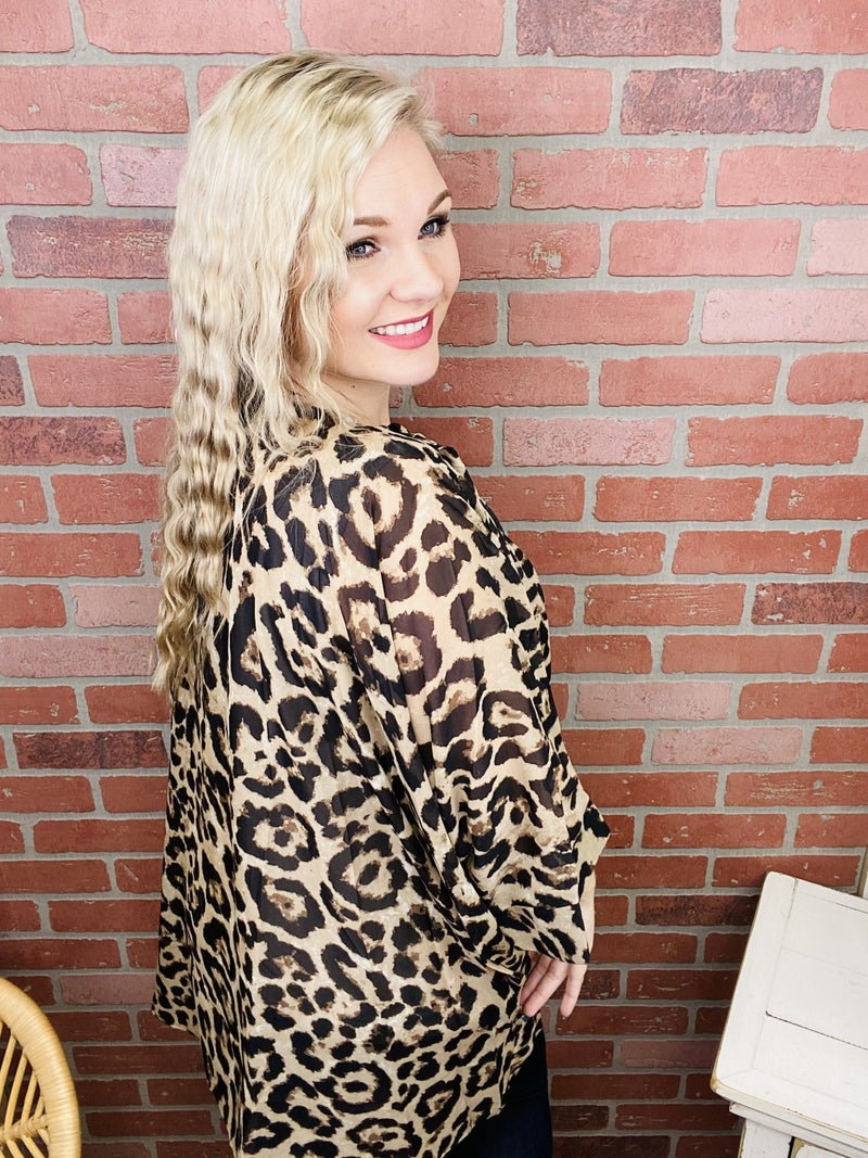 Return To The Wild Leopard Cardigan
