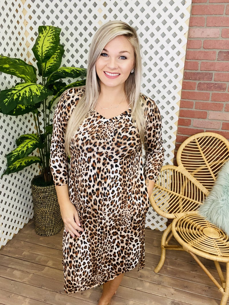Heard About Me Leopard Dress