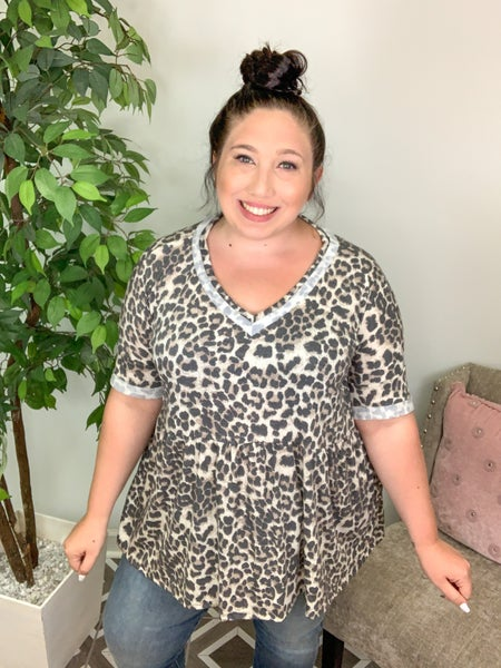 Hold The Drama Leopard Top