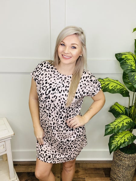 Night On The Town Leopard Dress