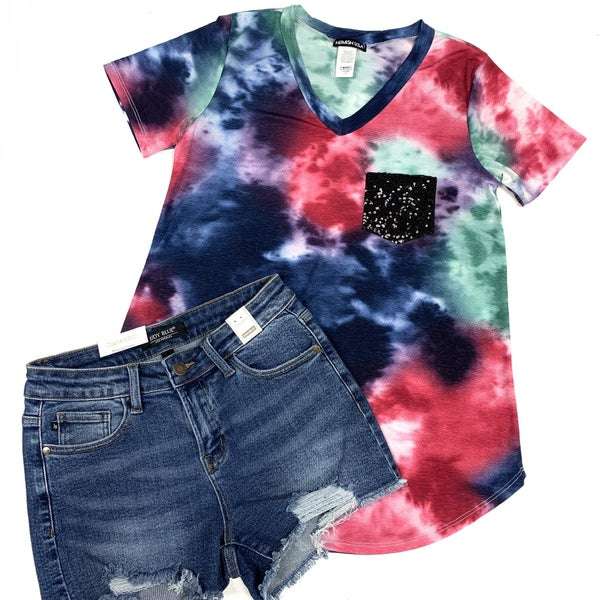 Be My Downfall TieDye Pocket Top