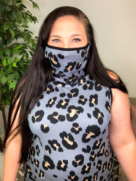 Leave It Behind Leopard Mask Top
