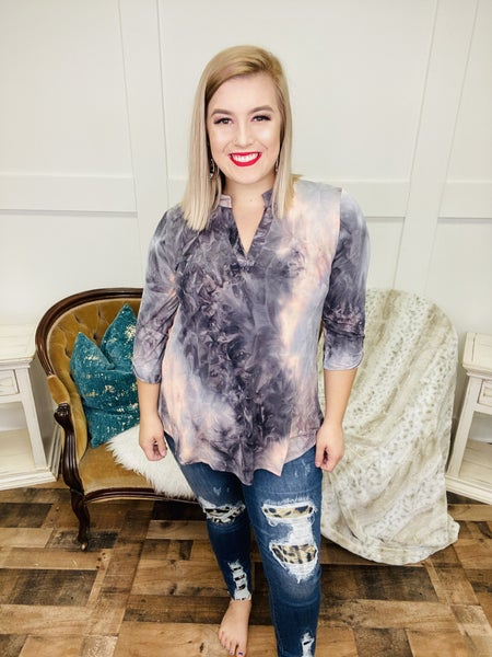 Fade Into Dusk TieDye Top