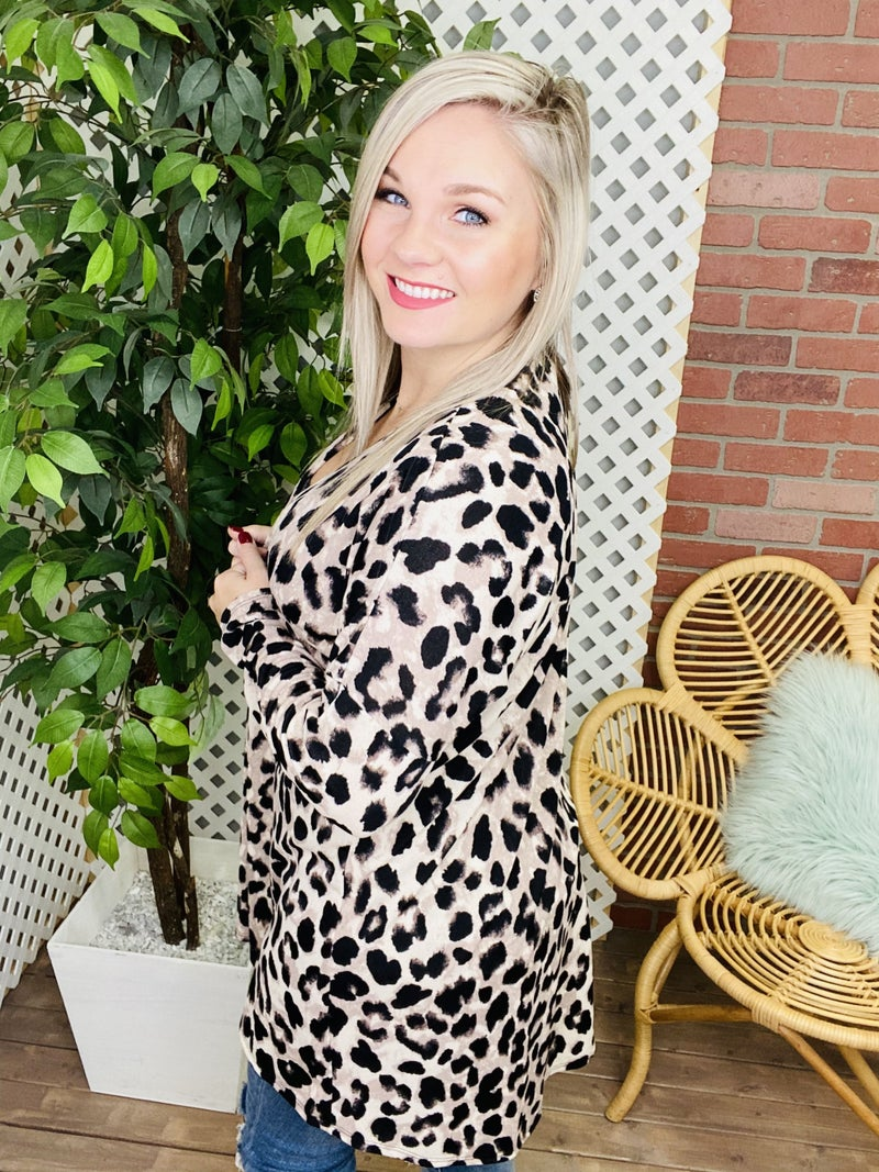 Humble Your Cattitude Leopard Cardigan