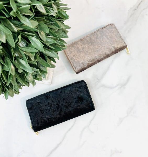 Soft Styles Velvet Wallet