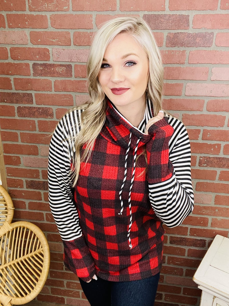 In Too Deep Plaid Top