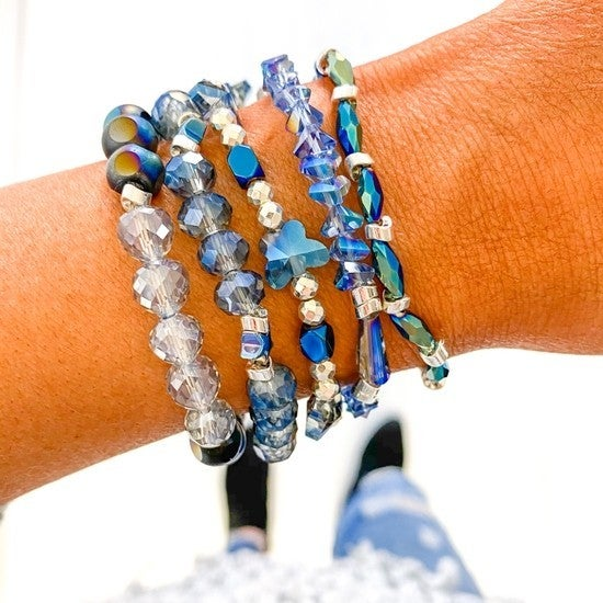 Midnight Dancer Blue Bracelet Stack