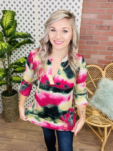 She's Admirable TieDye Top