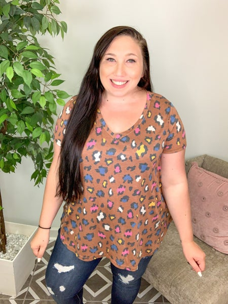 Go With The Flow Leopard Top