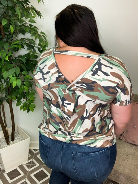 Be Free Camo Top