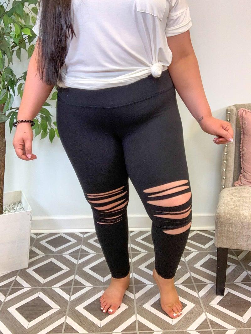 Distressed Leggings (3 Colors!)