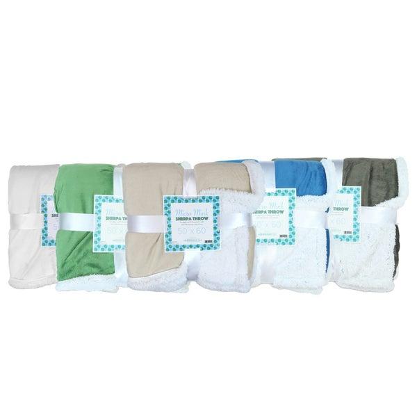Soft Mink Sherpa Throw Blanket