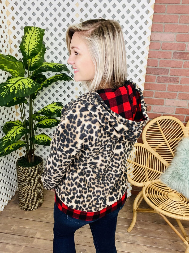 Clash With You Leopard Plaid Jacket