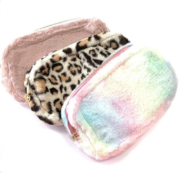 Faux Fur Makeup Bags