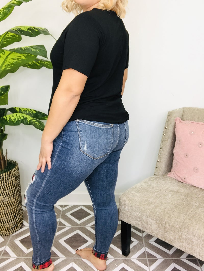 """Judy Blue """"Plaid About You"""" Jeans"""