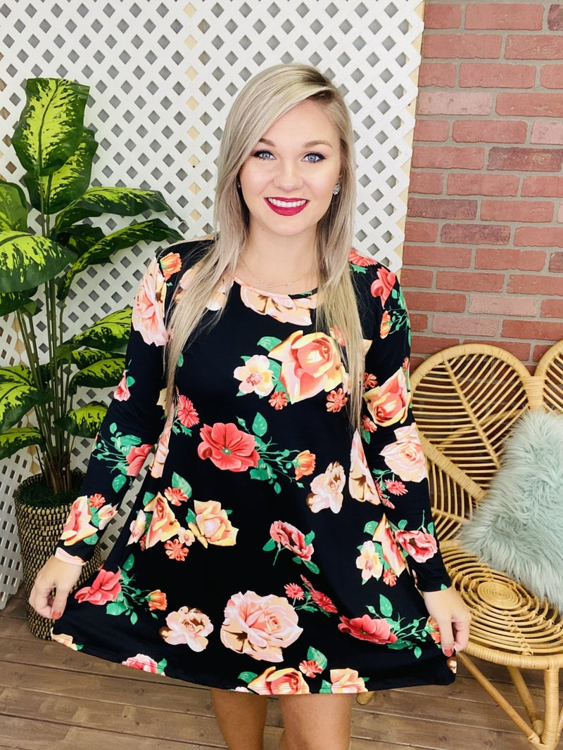 Certain About You Floral Dress