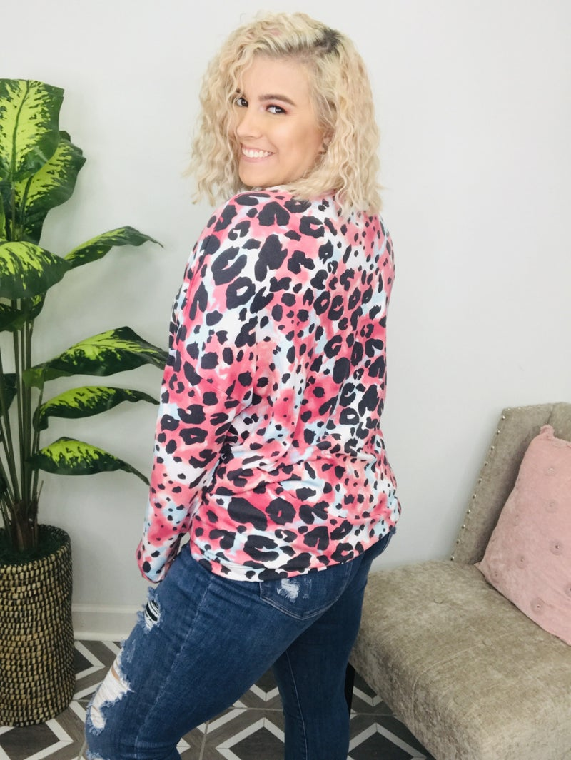 Ruby In The Wild Leopard Top