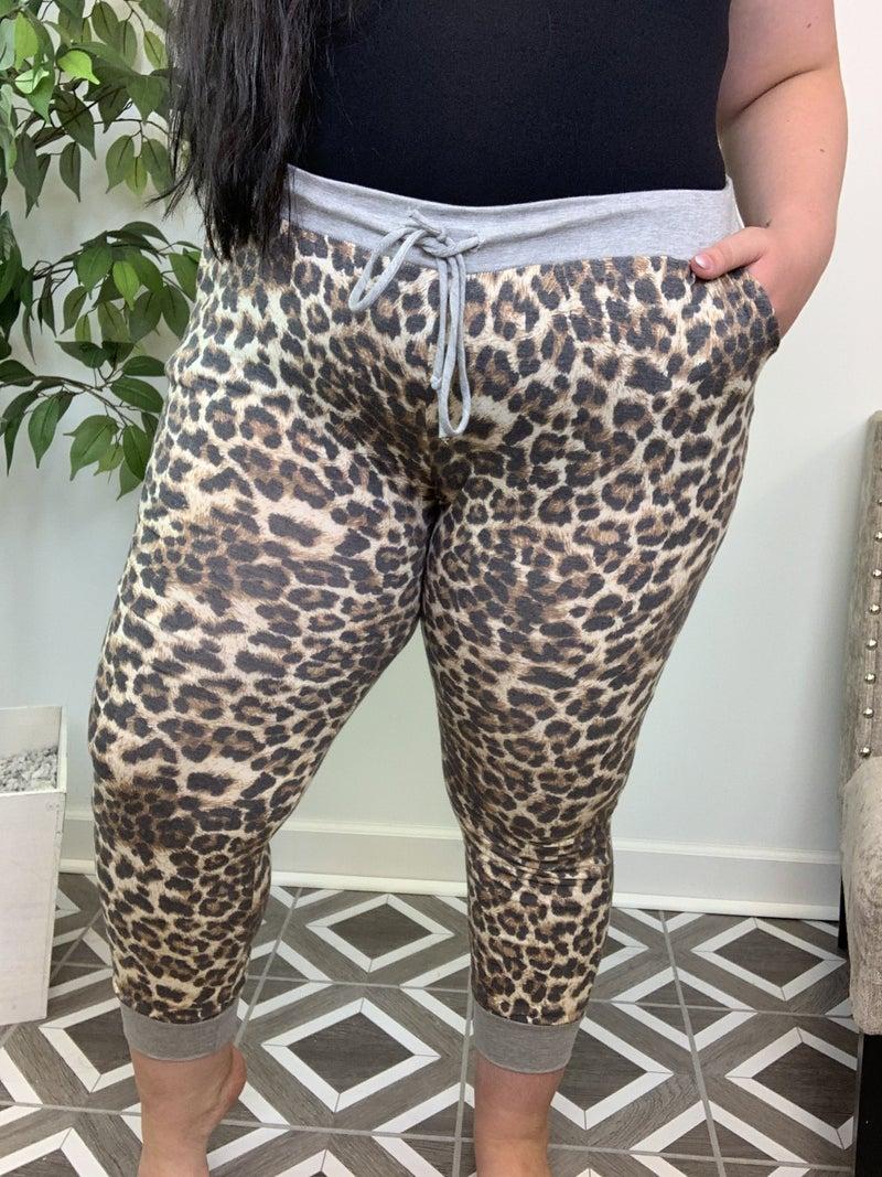 Run Wild Leopard Joggers