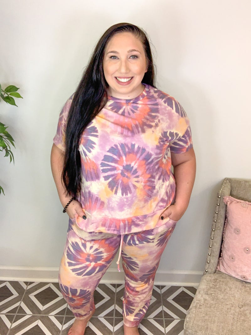 Twisted Grapes TieDye Top