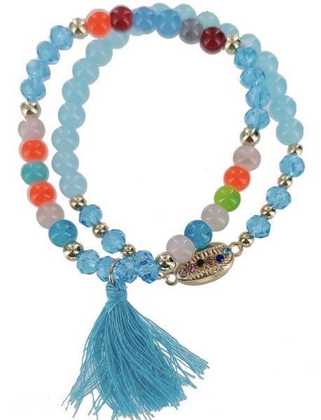 Shelltastic Tassel Bracelet