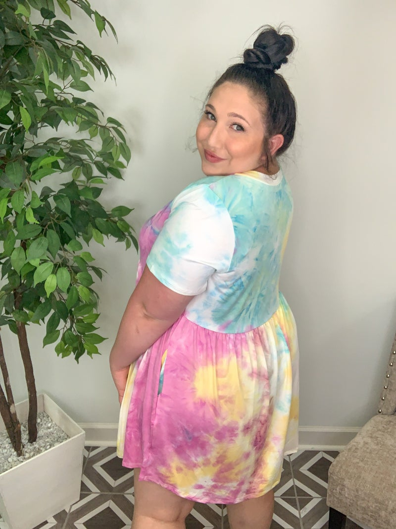 Back At It TieDye Dress