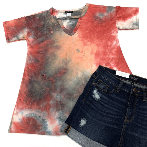 Summer Heat TieDye Top