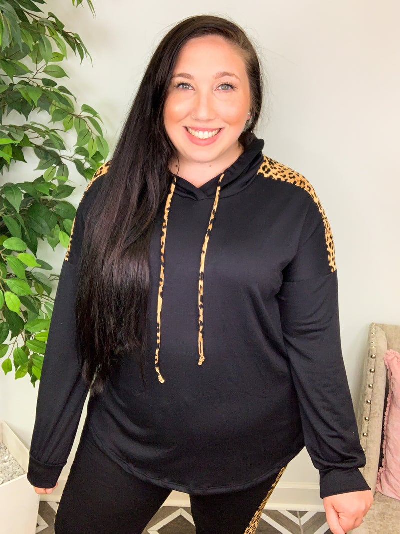 All About The Chase Leopard Hoodie