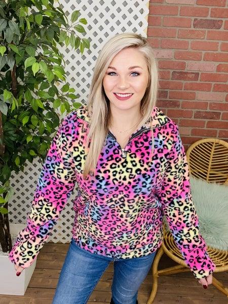 Rainbow Leopard Pullover