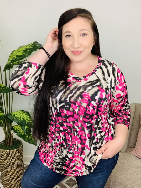 Easily Spotted Animal Print Top