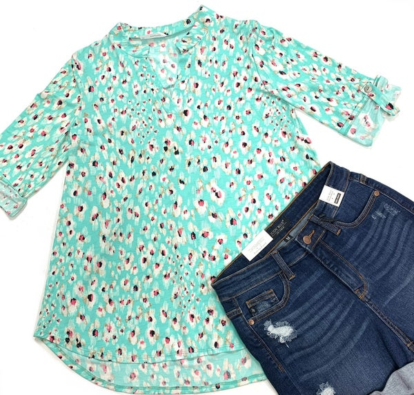 Main Distraction Leopard Top